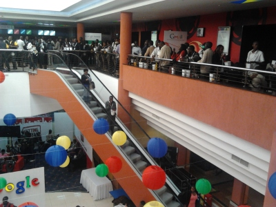 A section of the crowd at G-Kenya 2.0 during a break